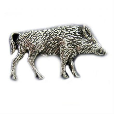 Boar Pewter Pin Badge
